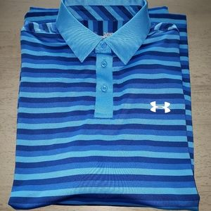 Under Armour Stripped Golf Polo